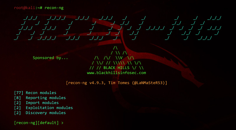 Recon-ng best hacking tools